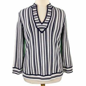 Tory Burch Gina Striped Pullover Tunic